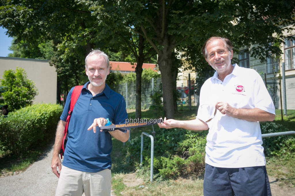 Christian Drastil, Roland Herzog (Veranstalter Höhenstraßen- und Kahlenberglauf), © photaq/Martina Draper (14.07.2015)