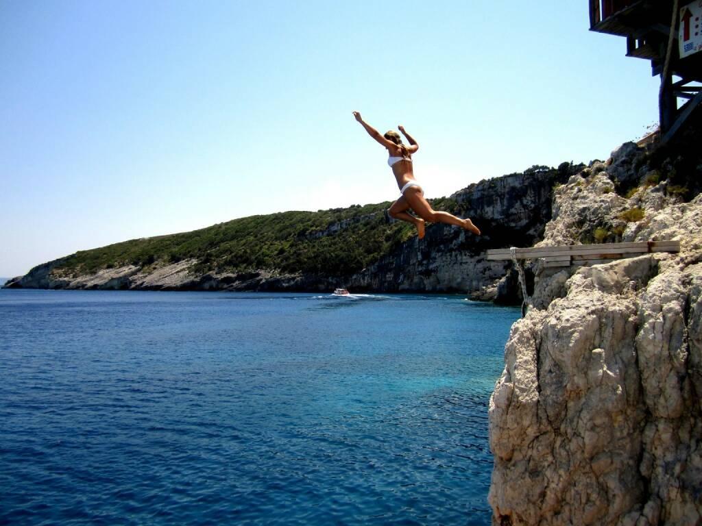 Petra Lebersorger Griechenland Sprung http://www.physiotherapie-petra.at, © Diverse  (14.07.2015)