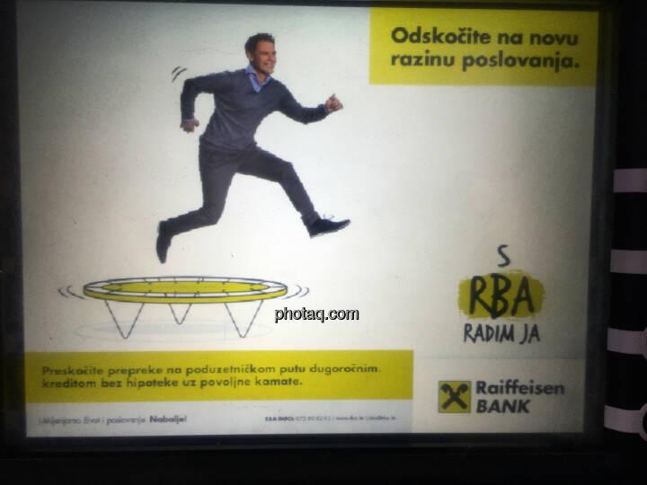 Raiffeisen Bank, RBI, Kroatien, Rab, Trampolin