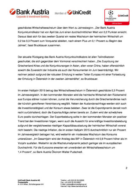 Bank Austria Konjunkturindikator: Schleppende Erholung, Seite 2/4, komplettes Dokument unter http://boerse-social.com/static/uploads/file_229_bank_austria_konjunkturindikator_schleppende_erholung.pdf (15.07.2015)