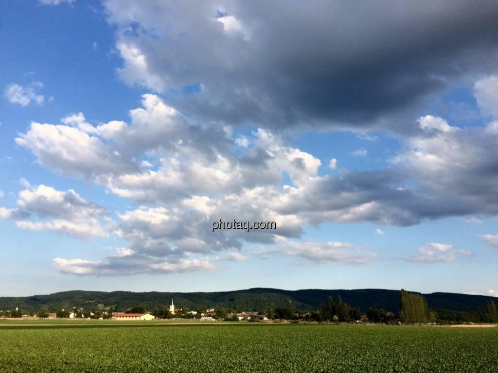 Zeiselmauer, Wolken, Land, © Martina Draper (15.07.2015)