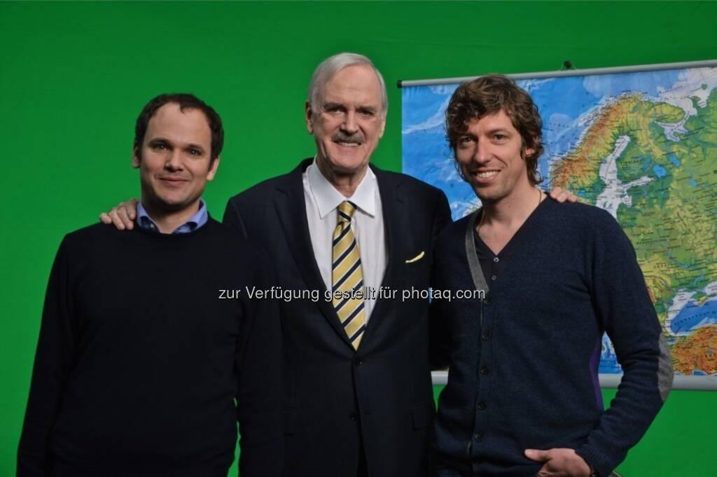 Wilhelm Huber, John Cleese, Thomas Schmidbauer: William Hill dreht neue TV-Spots mit John Cleese (c) Andrea Grassl (11.03.2013)