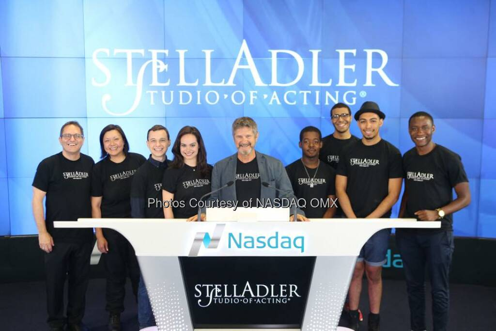 The Stella Adler Studio of Acting rings the Nasdaq Closing Bell!  Source: http://facebook.com/NASDAQ (16.07.2015)