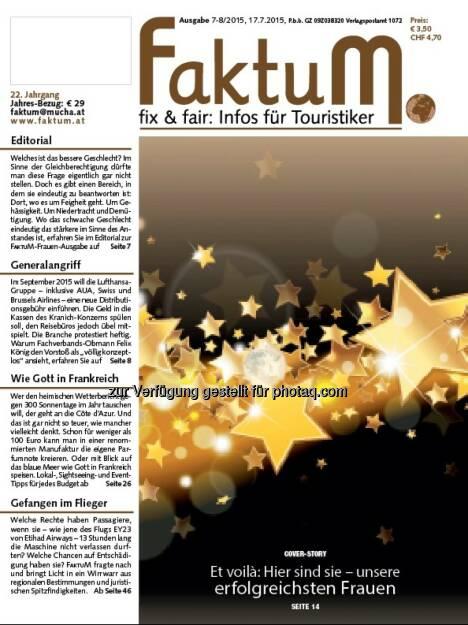 FaktuM 7-8/2015: Die Branchen-Ladies : © Mucha Verlag , © Aussender (17.07.2015)