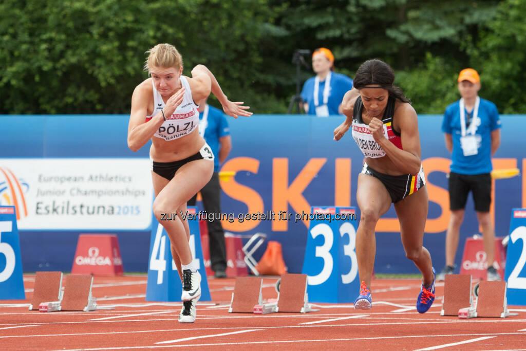 Carina Pölz, 100m (Bild: ÖLV/Coen Schilderman) (18.07.2015)