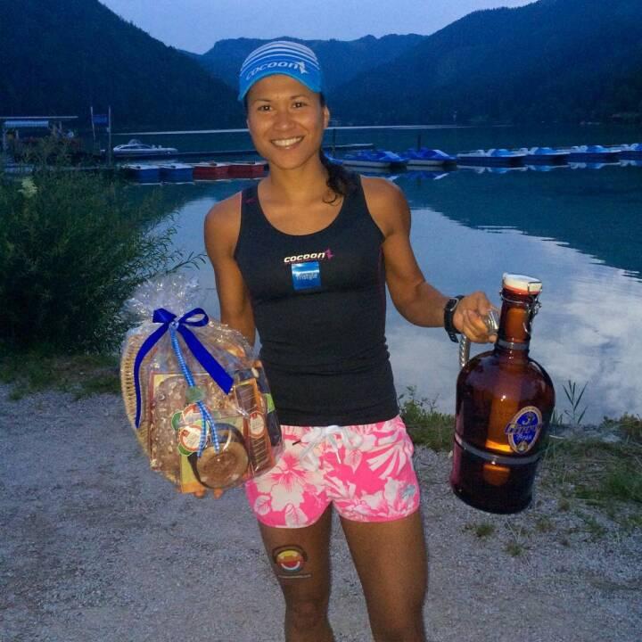 Nacht See Prost - Annabelle Mary Konczer (Tristyle Runplugged Runners) beim Erlaufsee Nightrun