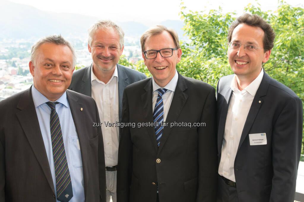 Wilhelm Himmel,Thomas Rajakovics, Christian Buchmann, Bernhard Puttinger : Steirische Umwelttechnik im Aufwind : © ECO World Styria, © Aussendung (20.07.2015)