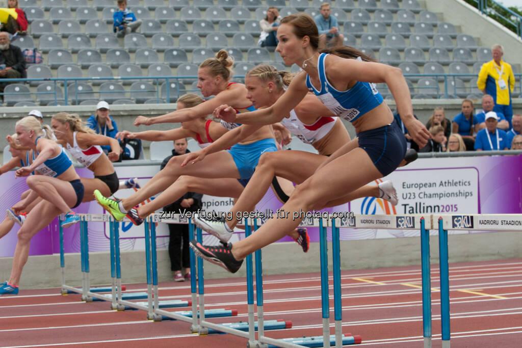 Ivona Dadic, Verena Preiner, 100m Hürden (Bild: ÖLV/Coen Schilderman) (20.07.2015)