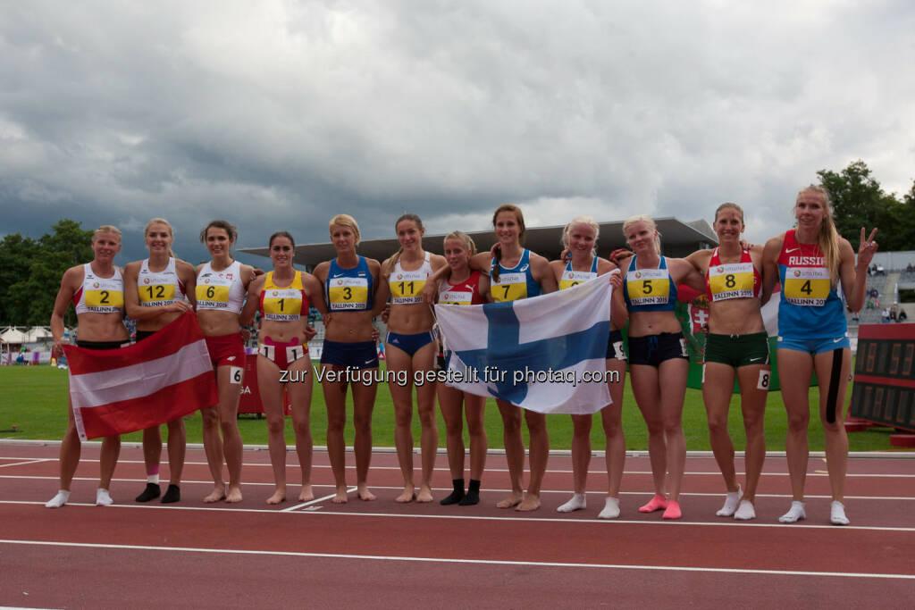 Siebenkampf, Parade der Athletinnen, Österreich, Finnland (Bild: ÖLV/Coen Schilderman) (21.07.2015)