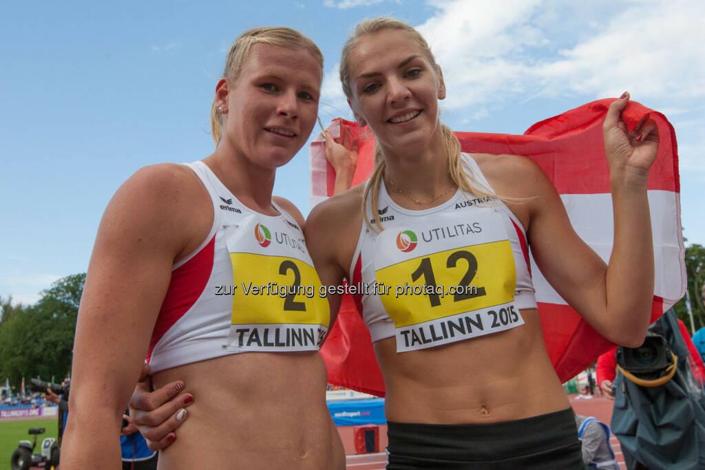 Verena Preiner, Ivona Dadic, Siebenkampf, Österreich (Bild: ÖLV/Coen Schilderman) (21.07.2015)