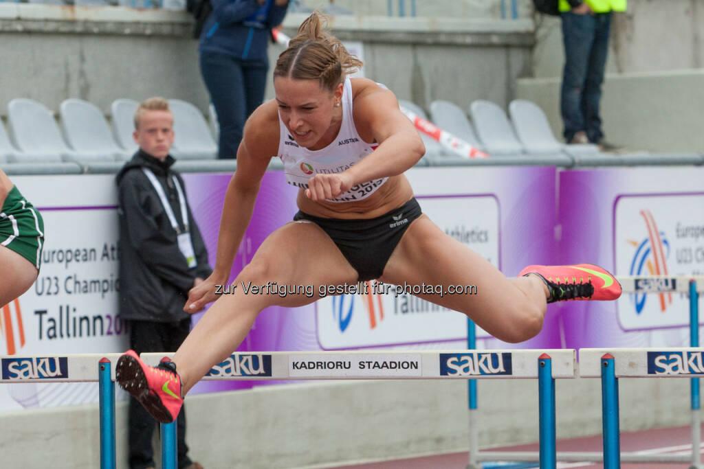 Eva Wimberger, 100m Hürden (Bild: ÖLV/Coen Schilderman) (21.07.2015)