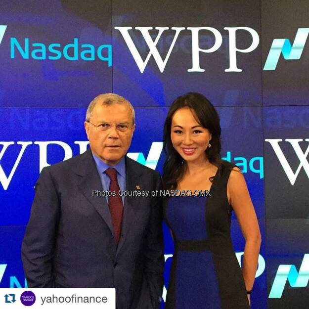 #Repost @yahoofinance: YF's Sue Lee interviewed Sir Martin Sorrell, CEO of WPP (the world's largest communications firm) after he rang the @nasdaq closing bell today. #YFbehindthescenes #closingbell #nasdaq  #behindthescenes  Source: http://facebook.com/NASDAQ (24.07.2015)