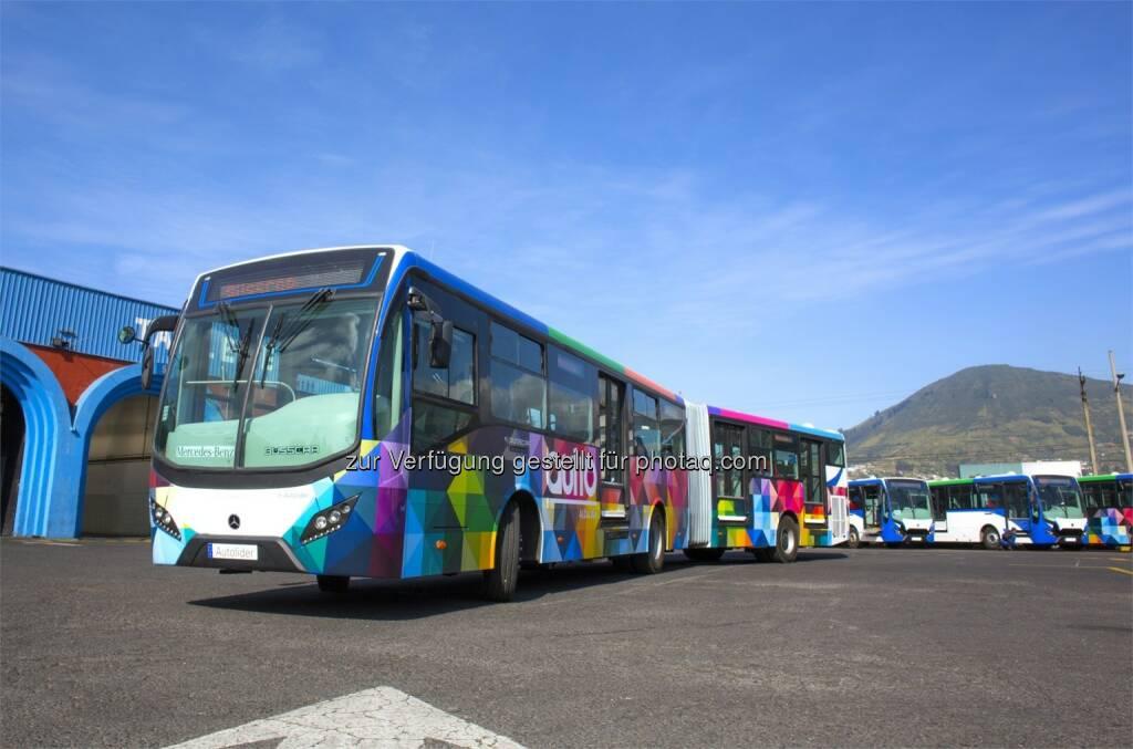Mercedes-Benz Gelenkbus in Quito Ecuador : Daimler Buses verbucht wichtige Großaufträge in Brasilien und Ecuador : (c) Daimler, © Aussendung (24.07.2015)