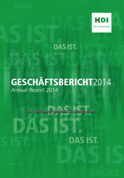HDI Versicherung AG : Internationale Auszeichnung für HDI Geschäftsbericht 2014 : Fotograf: Habesohn Doucha/Fotocredit: HDI Versicherung AG, © Aussendung (24.07.2015)