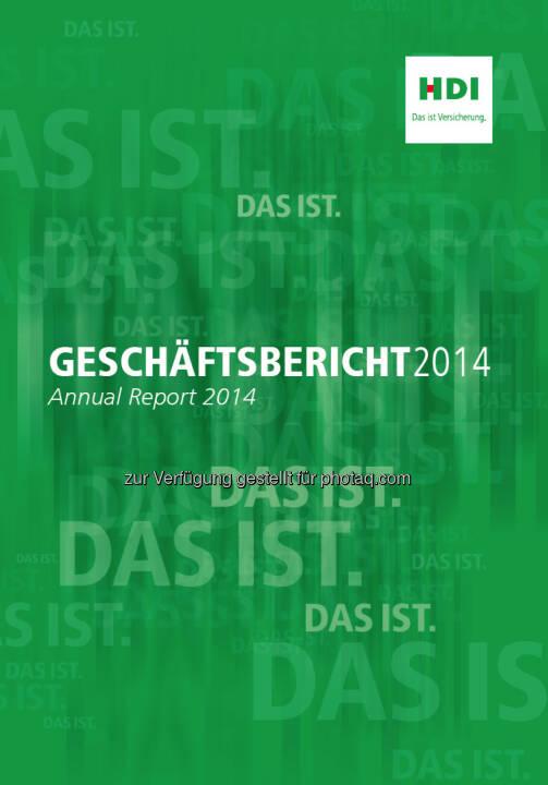 HDI Versicherung AG : Internationale Auszeichnung für HDI Geschäftsbericht 2014 : Fotograf: Habesohn Doucha/Fotocredit: HDI Versicherung AG