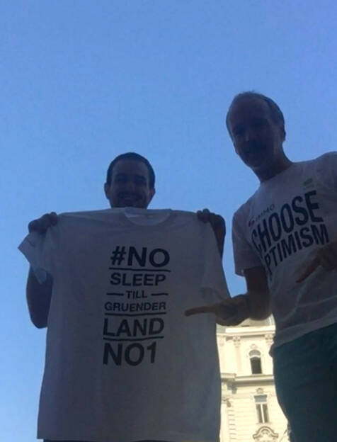 Mit Eduard Posch (bmwfw): #NoSleepTillGruenderlandNo1 meets Choose Optimism (24.07.2015)