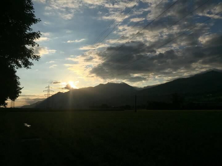 Die Sonne kämpft