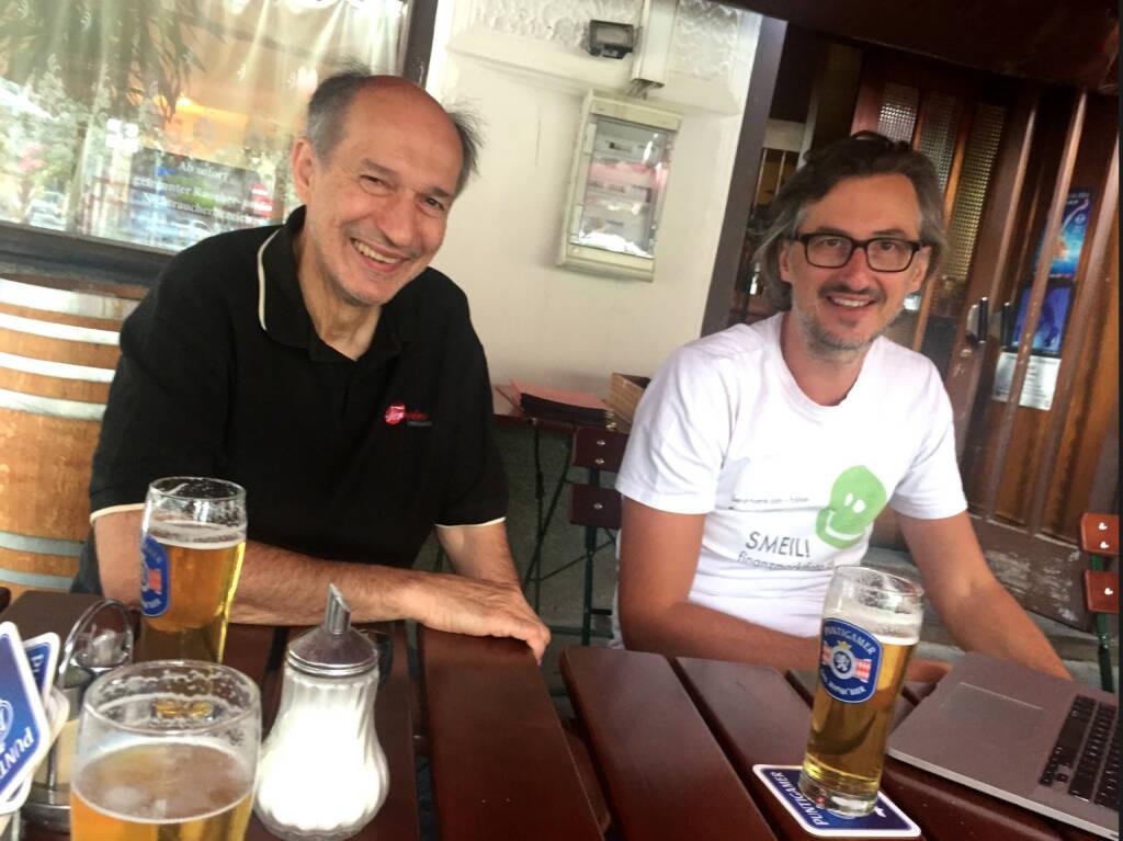 Mit Ludwig Hartweger und Josef Chladek beim Orlik (30.07.2015)