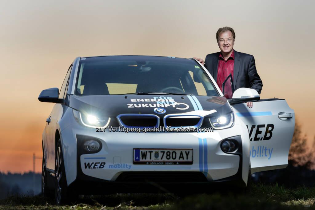Andreas Dangl (Ella-Vorstand) : Ab 1. August führt die W.E.B-Tochter Ella AG ein Tarifmodell für das Laden an ihren Schnellladern für Elektrofahrzeuge ein : © eric kruegl, © Aussendung (30.07.2015)
