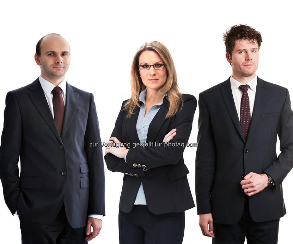 Zoltan Palinka, Gabriela Porupkov, Vladimir Cizek : Schönherr ernennt drei neue Partner in Prag : (c) Schönherr, © Aussendung (31.07.2015)