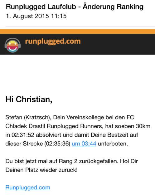 Betatester: Stefan Kratzsch überholt Christian Drastil im 30er-Ranking (01.08.2015)