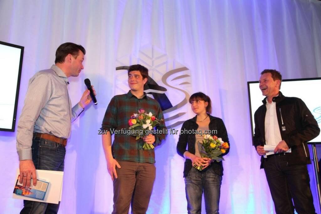 voestalpine-Mitarbeiter-WM: Gerhard Kürner, Markus Kerschbamer, Johanna Holzer, Roman Roell (14.03.2013)