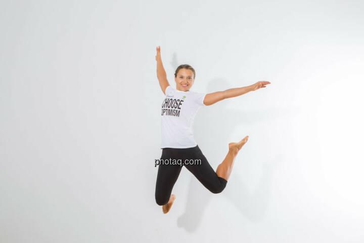 Petra Lebersorger, jump, Choose Optimism, Sprung, Freude