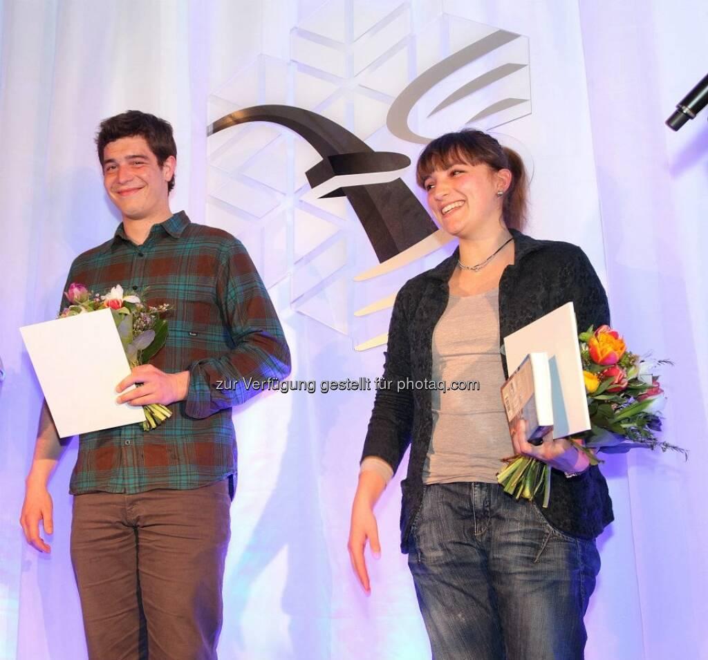 voestalpine-Mitarbeiter-WM: Markus Kerschbamer und Johanna Holzer, die WM-Blogger bei den Echten (14.03.2013)