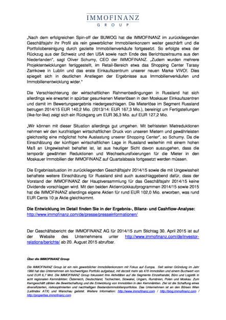 Immofinanz bestätigt vorläufige Zahlen, Seite 2/3, komplettes Dokument unter http://boerse-social.com/static/uploads/file_277_immofinanz_bestatigt_vorlaufige_zahlen.pdf (07.08.2015)