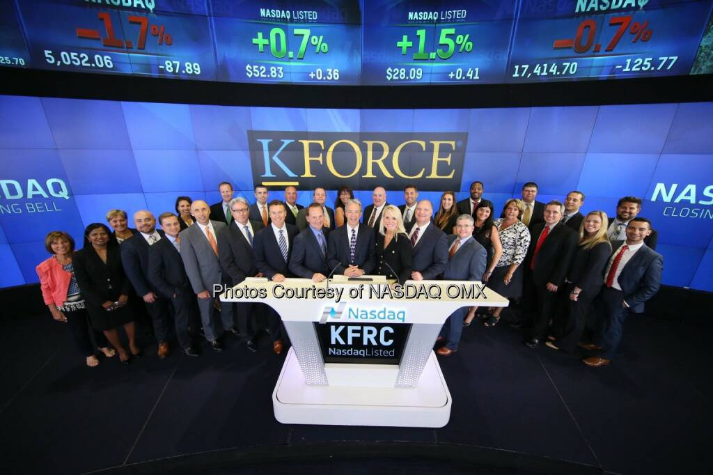 Kforce, Inc. rings the @Nasdaq Closing Bell! $KFRC  Source: http://facebook.com/NASDAQ (07.08.2015)
