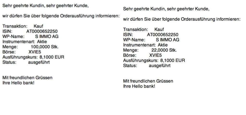 Tag 24a: Kauf 122 S Immo zu 8,10 (07.08.2015)