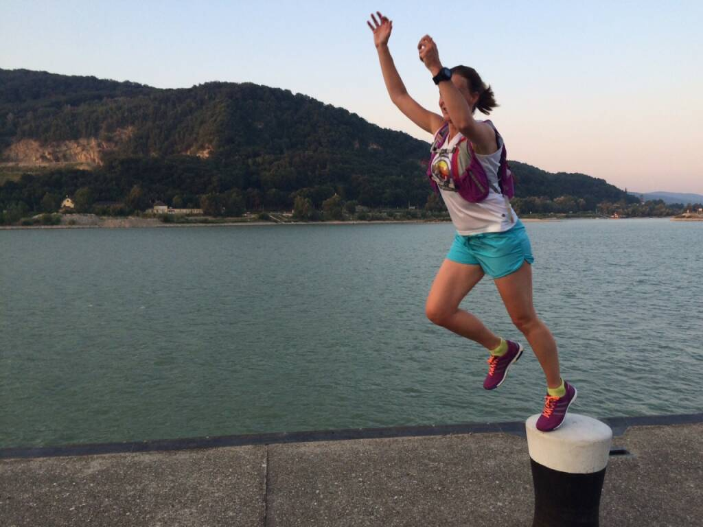 Jump, Donau, Runplugged, © Martina Draper (08.08.2015)