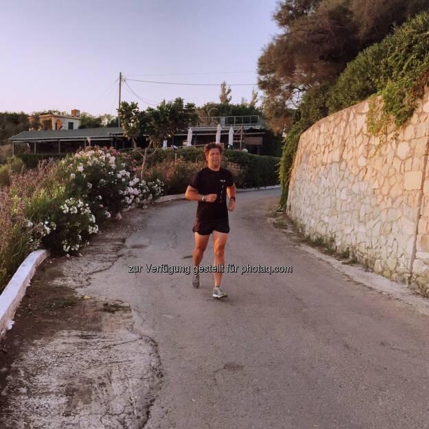 Jochen Gold laufen auf Zakynthos (10.08.2015)