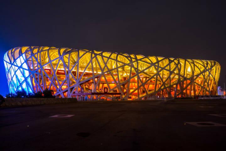 Peking, Beijing National Stadium, Bird's Nest. 2008 Olympische Sommerspiele.<a href=http://www.shutterstock.com/gallery-2953174p1.html?cr=00&pl=edit-00>basiczto</a> / <a href=http://www.shutterstock.com/editorial?cr=00&pl=edit-00>Shutterstock.com</a>