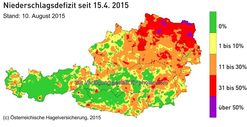 Klimawandel: Neuer noch nie dagewesener Rekord an Wüstentagen in Österreich Dürreschäden in der Landwirtschaft steigen Tag für Tag : © Österreichische Hagelversicherung, © Aussender (10.08.2015)