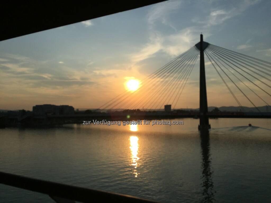 Sonnenuntergang Donau (12.08.2015)