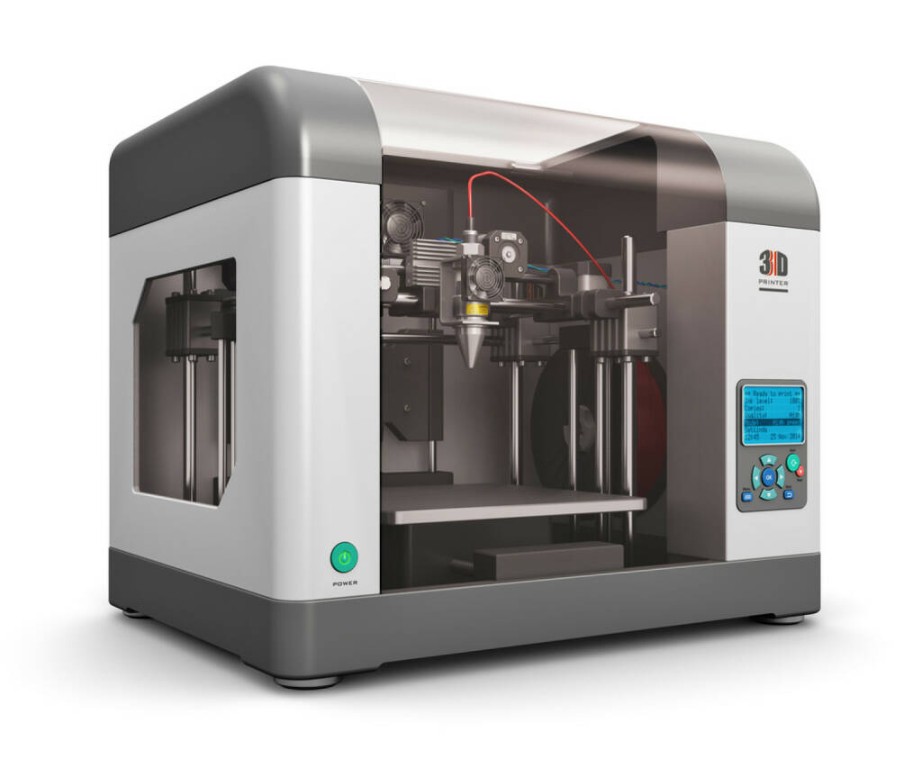 3D Drucker, http://www.shutterstock.com/de/pic-219317830/stock-photo-creative-abstract-new-technologies-concept-modern-professional-plastic-d-printer-isolated-on.html, © www.shutterstock.com (14.08.2015)