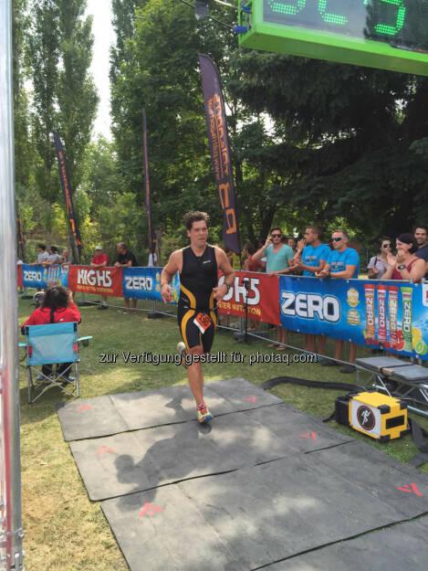 Jochen Gold beim Zieleinlauf (16.08.2015)