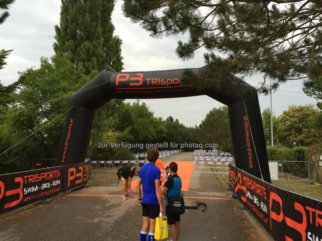 vor dem Start zum Marchfeld Triathlon (16.08.2015)