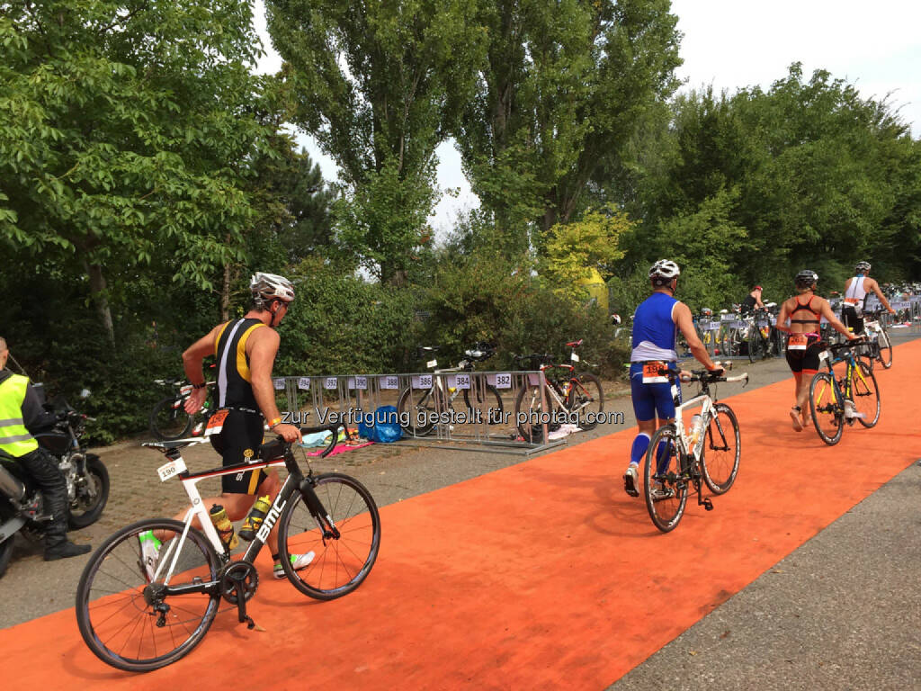 Triathlon, Fahrrad, Wechselzone (16.08.2015)