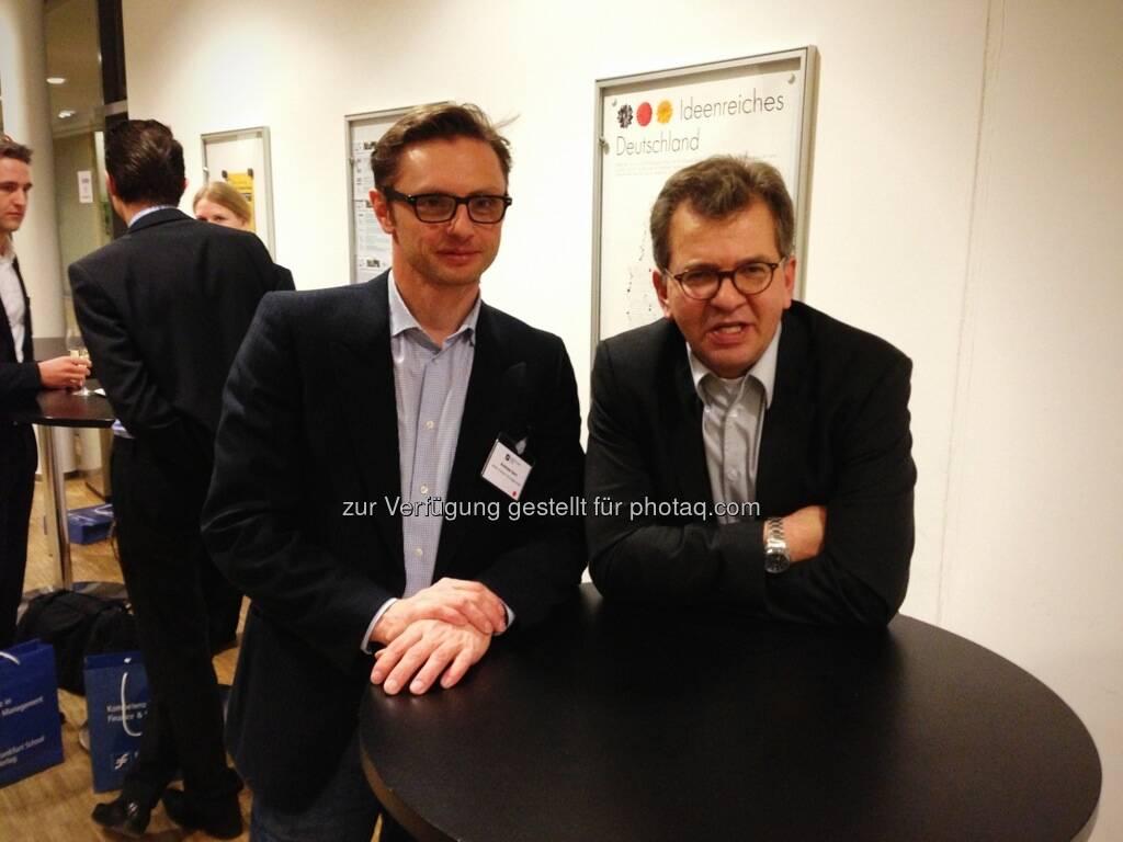 Wikifolio bei der Konferenz Finanzdienstleister der nächsten Generation, im Bild Andreas Kern (li.), © Wikifolio (15.03.2013)