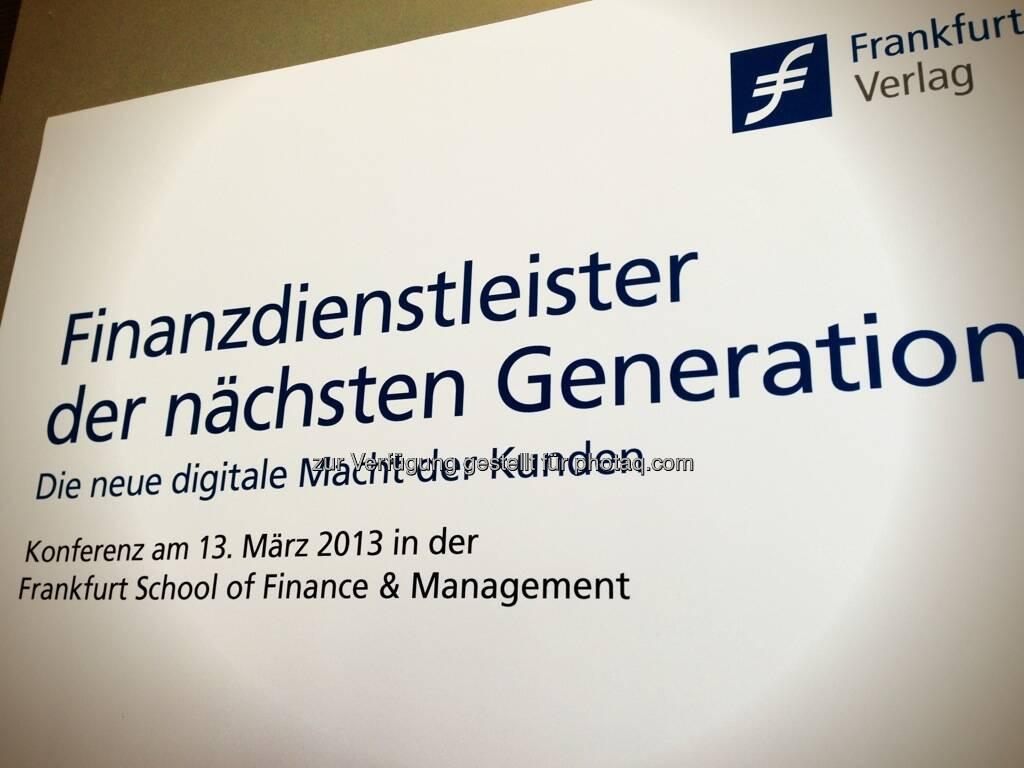 Konferenz Finanzdienstleister der nächsten Generation, © Wikifolio (15.03.2013)