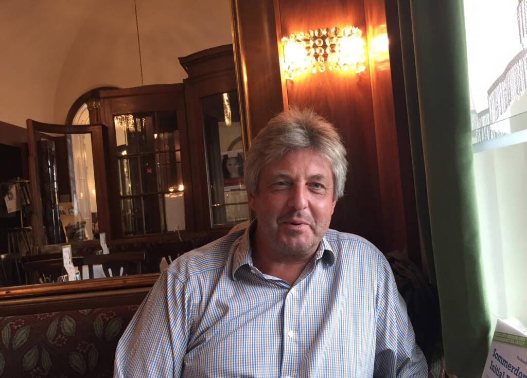 Mit Thomas Streimelweger (red-stars.com) im Landtmann (18.08.2015)