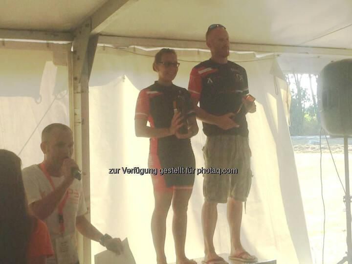 Martina Kaltenreiner, Siegerehrung, P3 Cup Sieger 2015 (Neufeld Sprint + Olympisch, Marchfeld Olympisch)