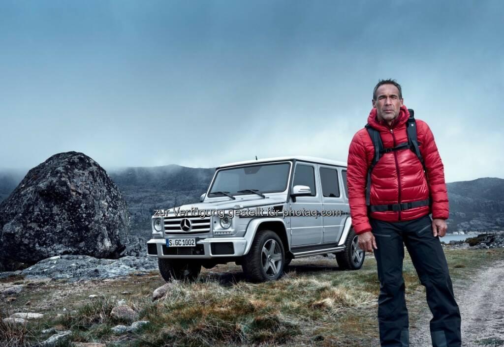 Mike Horn, Mercedes-Benz G-Klasse : Auf jedem Gelände in ihrem Element : Mercedes-Benz erneuert komplett seine SUV-Familie, die in diesem Jahr auf sechs Modelle anwächst : © Daimler AG, © Aussendung (21.08.2015)