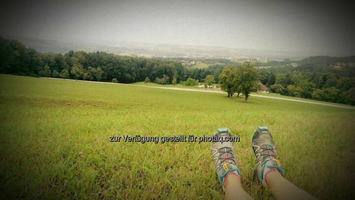 Schuhe, Füße, Berg, relax, entspannen, hinunter, Tal