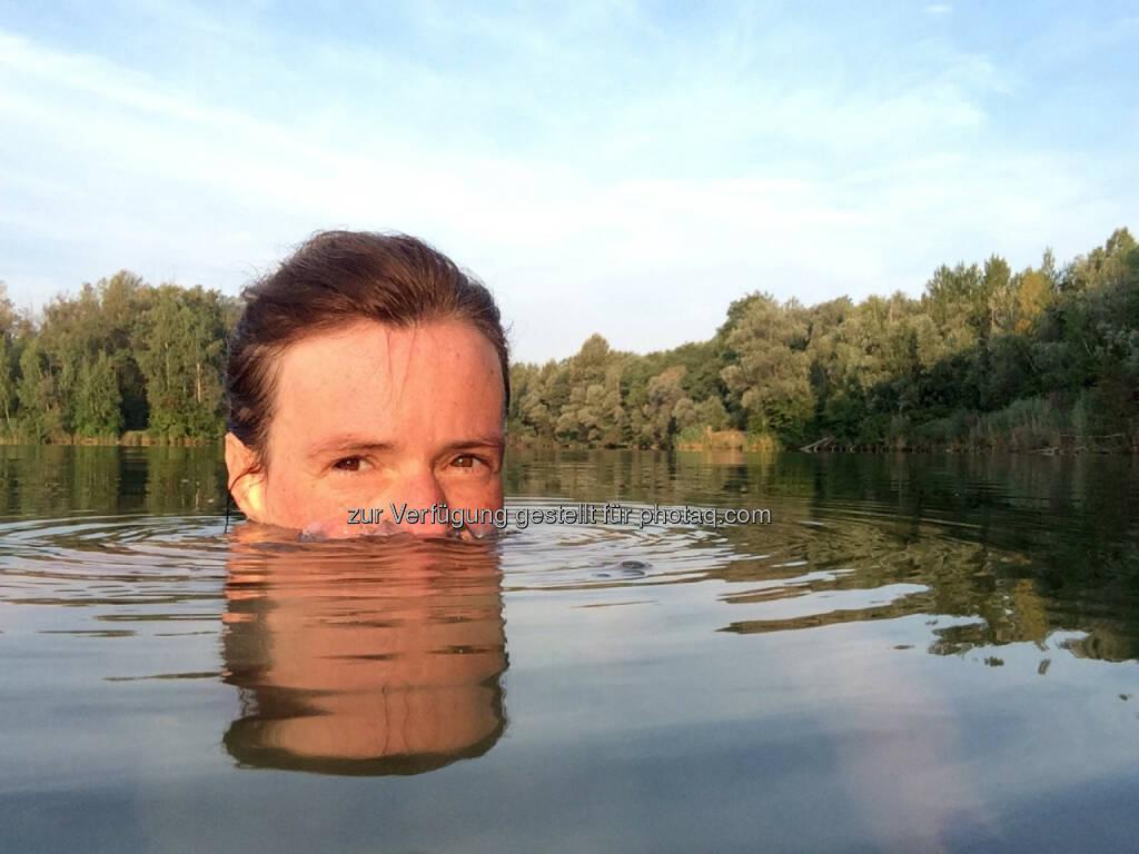 abtauchen, auftauchen, Wasser bis zum Hals, Wasser, schwimmen, © Martina Draper (22.08.2015)
