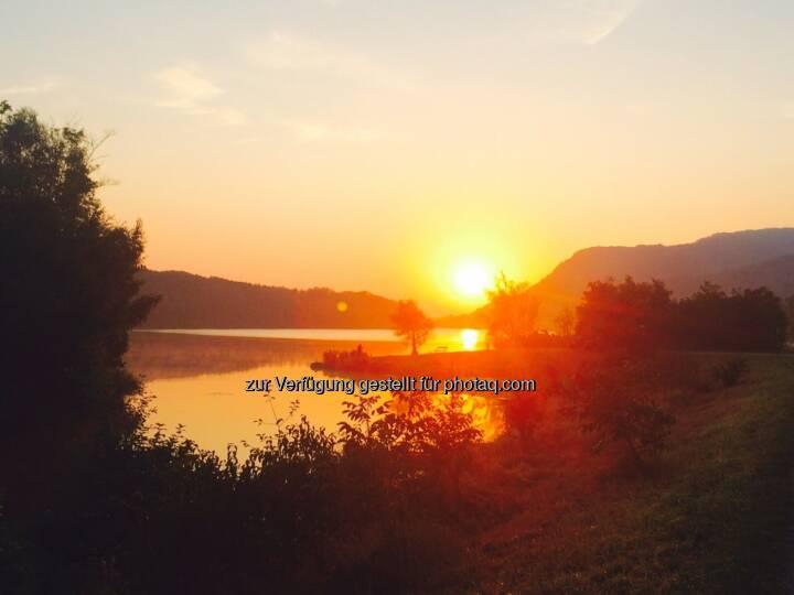 Sonnenaufgang Donaualtarm Greifenstein