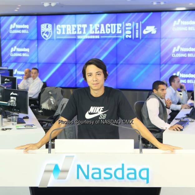 @seanmalto at the @streetleague @Nasdaq Closing Bell! @foxsports1  Source: http://facebook.com/NASDAQ (23.08.2015)