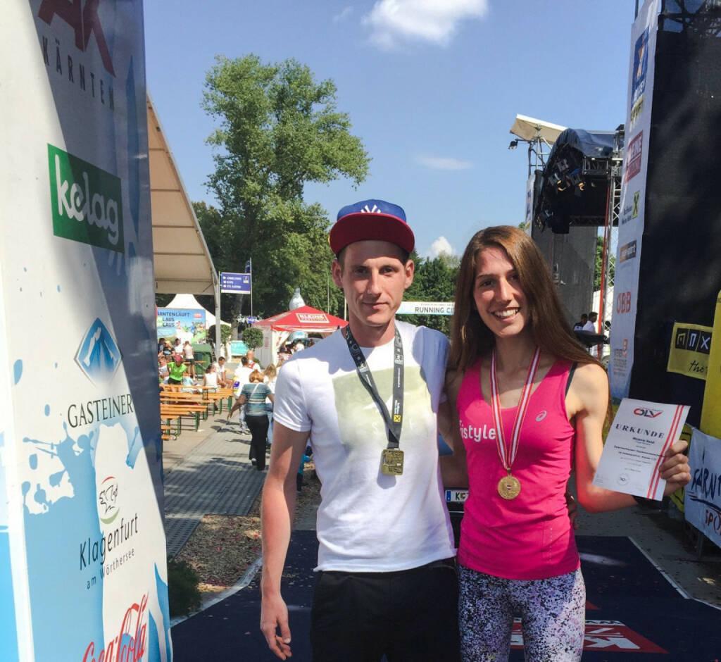 Harry Tschernitz, Melanie Raidl - Pacemaker und U23 HM Staatsmeisterin, © Melanie Raidl (24.08.2015)